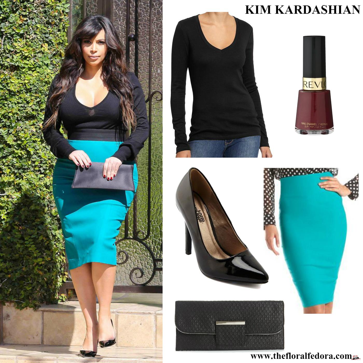 Kim Kardashian Beverly Hills March 2013 The Floral Fedora